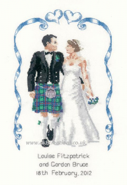 Scottish Wedding Cross Stitch Kit